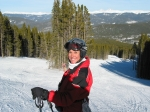 Sheri Morgan skiing Breckenridge, Colorado