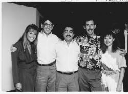 Kim Morgan, Steven Imburgia, Shawn O'Neill, Scott Kocijan and LouAnne Heth at the 1990 reunion in West Palm Beach,