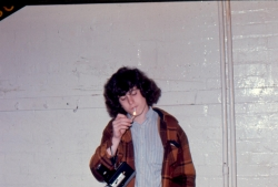 Steven Imburgia smokes a cig in the Molesworth Jr. High gym, 1973.