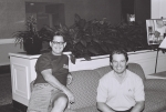 Kim Morgan's husband, Frank Biganski, and Keith Callahan, July 6, 2001