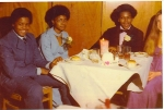 Submitted by Andre Everett: Leonard Arnold, Elaine Williams, Allen Everett, prom 1973