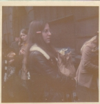 Submitted by Sheri Morgan: Waiting in London to leave for Switzerland with AYA, 1972